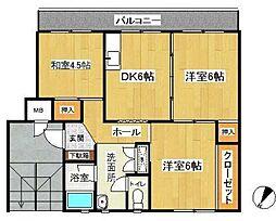 名瀬マンション(ナセマンション)[2階]の間取り