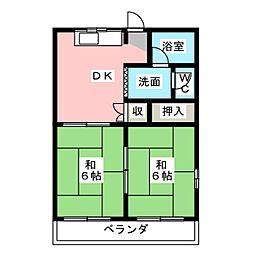サンシャイン鳥居松[4階]の間取り