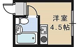 エクラ阿倍野[3階]の間取り