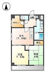 ファミリーハウス天塚[2階]の間取り
