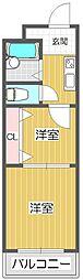 若江岩田駅徒歩6分 若江岩田CT・スクエア[408号室]の間取り