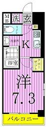 WAVE西新井[3階]の間取り