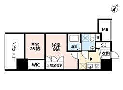 セレニテ福島scelto(シェルト)[11階]の間取り