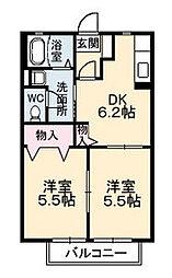 ディアスkiki B棟[B103号室]の間取り