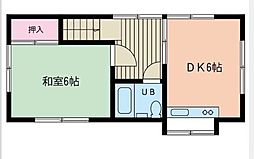 進藤アパート[201号室]の間取り