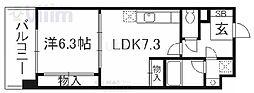 サルタル大和大路 4階1LDKの間取り