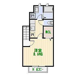 アスピリア フルール[2階]の間取り