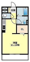 コンフォース大山 2階ワンルームの間取り