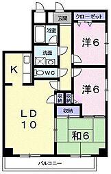 スカイマンション[1001号室]の間取り