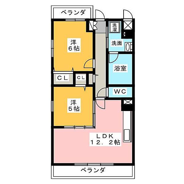 愛知県名古屋市中村区長戸井町2丁目の賃貸マンションの間取り