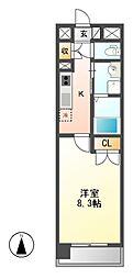ララステージ熱田[2階]の間取り