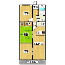 ソレーユ小栗栖[3階]の間取り
