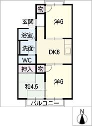 コーポ堀部[1階]の間取り