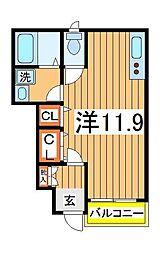 バード ツィート[1階]の間取り