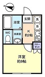 フォレストハウス習志野A棟[2階]の間取り