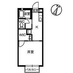 ダイナスティ21 2号棟[2階]の間取り