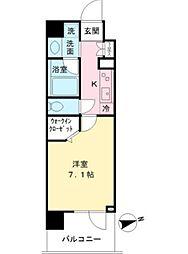 MODIER YOYOGI 4階1Kの間取り