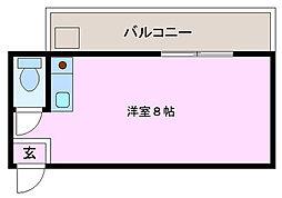 大阪府堺市堺区五条通の賃貸マンションの間取り
