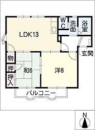 フレグランス新栄 C棟[2階]の間取り