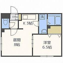 北海道札幌市白石区本通9丁目南の賃貸マンションの間取り