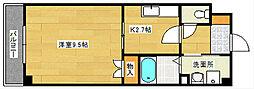 広島県広島市東区光が丘の賃貸マンションの間取り