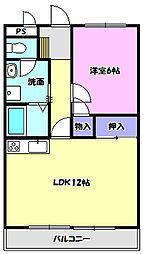 宮本マンション[207号室]の間取り