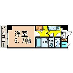愛知県名古屋市中村区大秋町2丁目の賃貸マンションの間取り