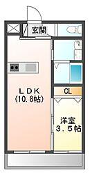 澤田マンション(仮)[3階]の間取り