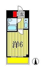 カスタリア船橋[3階]の間取り