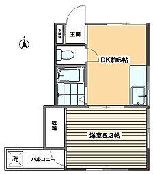 メゾンクレール[2階]の間取り