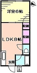 ハイツ秋山[11号室]の間取り