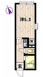 リブ町屋4丁目[102号室]の間取り