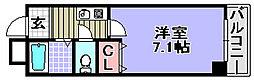 エクセレント岸和田弐番館[506号室]の間取り