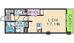 ロイヤルパークス桃坂[12階]の間取り
