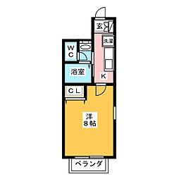 アスコット多賀城[1階]の間取り