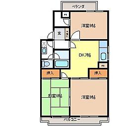 田島ハイツB棟[2階]の間取り
