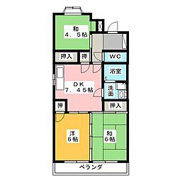 大島ビル城下[3階]の間取り