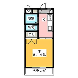 ツインシャトー富ヶ丘[4階]の間取り