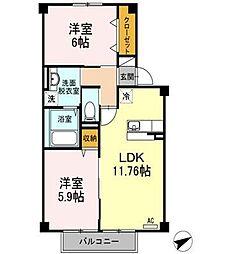 (賃)G.AP 3棟[2階]の間取り