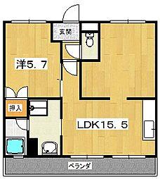 高村ハイツ[3階]の間取り