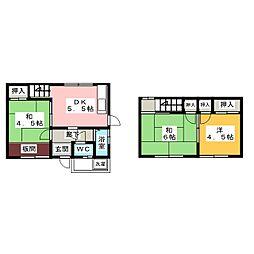 [一戸建] 岐阜県岐阜市尻毛1丁目 の賃貸【/】の間取り