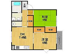 ファミーユ伊丹[2階]の間取り