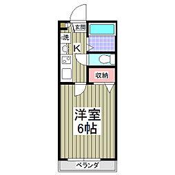 ロジュマン鶴ヶ島五味ヶ谷1番館[202号室]の間取り