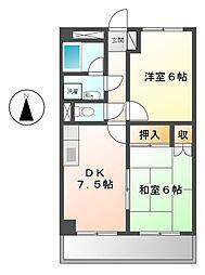 シャンポール鶴見[3階]の間取り
