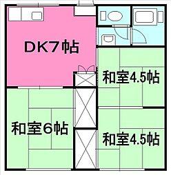 KIKUKAハイツ[103号室]の間取り