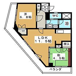 サンハイツビル[2階]の間取り