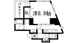兵庫県宝塚市川面5丁目の賃貸マンションの間取り
