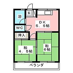 コーポ本郷[2階]の間取り