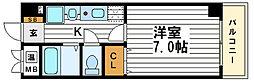 大阪府大阪市中央区瓦屋町2の賃貸マンションの間取り