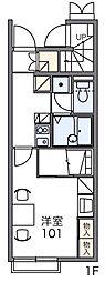 レオパレス西羽貫[1階]の間取り